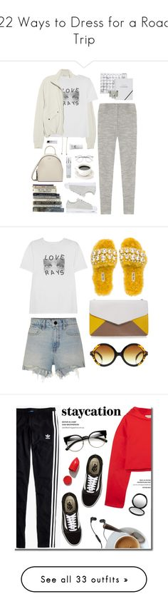 """""""22 Ways to Dress for a Road Trip"""" by polyvore-editorial ❤ liked on Polyvore featuring roadtrip, waystowear, Isabel Marant, T By Alexander Wang, AlexaChung, Kate Spade, adidas, DKNY, Kenneth Cole and NYX"""