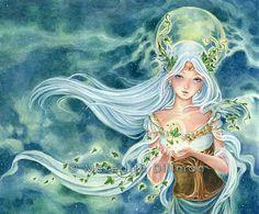 Ivy Goddess fantasy art print 8x10 by meredithdillman on Etsy, $16.00  see her online store here:  http://www.etsy.com/shop/meredithdillman?ref=seller_info