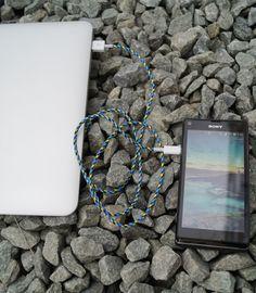 Kolorowe kable USB do Smartfonów. Tekstylny oplot. Design.