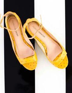 REBECCA MINKOFF FLATS // yellow!