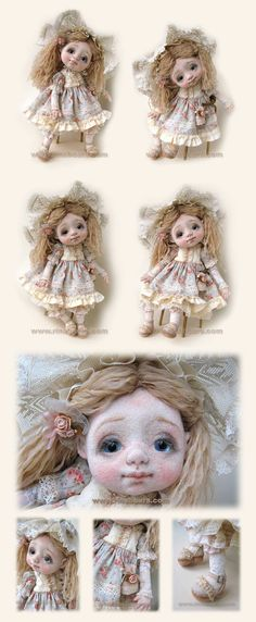 Needle felted Manon. Very pretty little face, fully clothed to cover most of the body though, but looks beautiful.