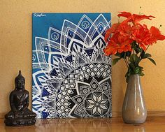 Check out this item in my Etsy shop https://www.etsy.com/listing/455234340/mandala-wall-art-mandala-painting-yoga
