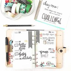 Look at those beautiful washi tapes | One does not simply do a creative challenge | Filofax nude decoration