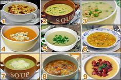 Receitas de sopas e cremes