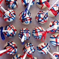 Fourth of July Cake Pops!
