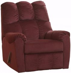 Ashley Furniture Signature Design Raulo Rocker Recliner 1 Pull Manual Reclining Sofa Burgundy *** To view further for this item, visit the image link. (This is an affiliate link) Ashley Furniture Industries, Cheap Chairs, City Furniture, Best Sofa, Reclining Sofa, Signature Design, Sofa Chair, Armchair, Living Room Chairs