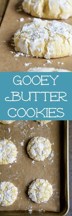 1 dozen gooey butter cake cookies MADE FROM SCRATCH. No cake mix!