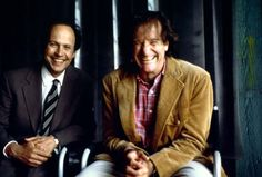 Billy Crystal & Robin Williams during filming of Fathers' Day, 1996