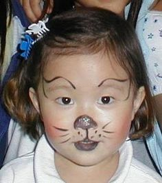 cat face painting Mais