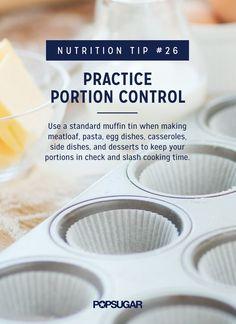 Practice Portion Control