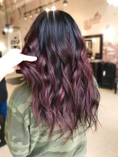 Are you going to balayage hair for the first time and know nothing about this technique? We've gathered everything you need to know about balayage, check! Red Hair Color, Hair Color Balayage, Cool Hair Color, Purple Hair, Color Pop, Dark Red Balayage, Haircolor, Dark Fall Hair Colors, Hair Color Ideas For Dark Hair