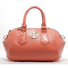 Fashion Handbag in Peach color. Beautiful fashion hangbag for any occasion.   Faux  leather, Zip top closure, Gold-tone hardware Bags