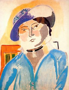 """fashioninpaintings: """"Marguerite in a Leather Hat by Henri Matisse, 1914 """""""