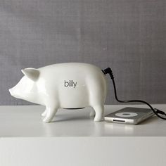 ceramic pig speaker from west elm $30...JUST ordered it and I am too excited haha