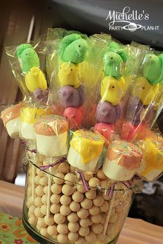 Peeps pops at a Easter Party #easter #partytreats