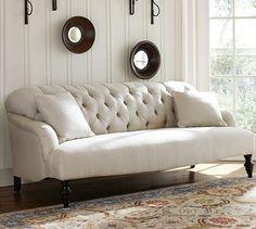 Clara Apartment Sofa #potterybarn
