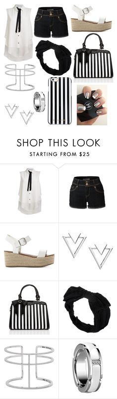 """trendy style"" by vixx-starlight ❤ liked on Polyvore featuring Rinascimento, LE3NO, Steve Madden, Nadri, Johnny Loves Rosie, APM Monaco and MICHAEL Michael Kors"