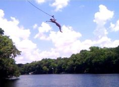 Bob's River Place, Dixie County, Florida — by Alyssa Kohls. Loving the weather, and incredible height of course. Go Usa, Swimming Holes, Water Slides, Rafting, Kohls, Places To Visit, Florida, The Incredibles, Weather