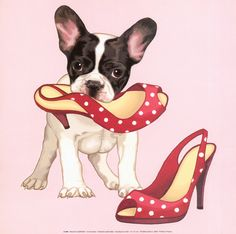 vintage boston terrier posters, In Her Shoes.  Precious!