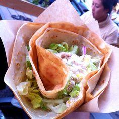 Yum! Tuna crepe. #food #noms