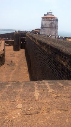 Edit Moment: Fort Augvada, Goa, India - One of the famous forts of Goa. -