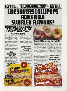 These were so good!! Life Savers Lollipops ad, March 1977.
