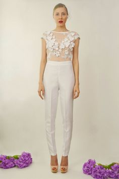 Giselle Two Piece Bridal Jumpsuit by DanielaTabois on Etsy