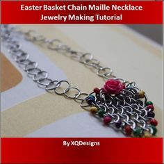 Easter Basket Chain Maille Necklace Jewelry Making Tutorial T111