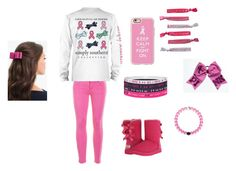 """Breast cancer awareness "" by diy4life ❤ liked on Polyvore featuring Casetify, J.Crew, UGG Australia, Under Armour and L. Erickson"