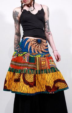 African wax print dashiki patchwork tiered short by ChopstixWaits, $58.00