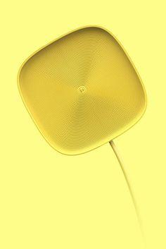 # Button dock Electronics Gianni Teruzzi hand LED Presentation Rounded Textile / Fabric Texture