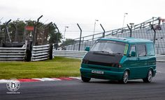 Track action shots from #VWHeritage 30th Birthday Party at Brands Hatch. Photos by Lawrence Butcher and Keith Sowden #VW #Transporter #track