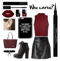 """""""I don't !"""" by mineangel ❤ liked on Polyvore featuring Bamboo, Magda Butrym, Glamorous, Givenchy, Gucci, Michael Kors, Lime Crime, Butter London and Otis Jaxon"""