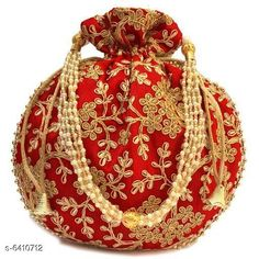 Pouches & Potlis Stylish Women's Potli  Material: Silk Pattern: Embroidered Multipack: 1 Sizes:  Free Size (Width Size: 9 cm) Country of Origin: India Sizes Available: Free Size *Proof of Safe Delivery! Click to know on Safety Standards of Delivery Partners- https://ltl.sh/y_nZrAV3  Catalog Rating: ★4.2 (1718)  Catalog Name: Elite Classy Women Pouches & Potlis CatalogID_1019739 C73-SC1077 Code: 602-6410712-