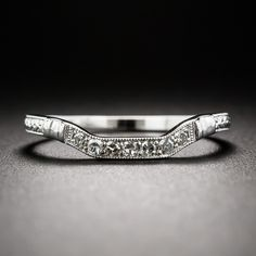 Art Deco Style Square Contour Wedding Band - Wedding Bands - Shop for Jewelry