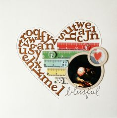 Using up letter stickers Blissful (lift of scrappyfran) by NicoleS at @Studio_Calico