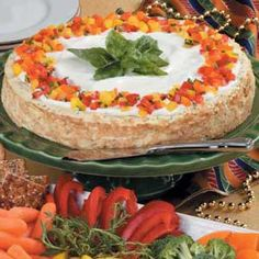 Herb cheesecake makes a great appetizer
