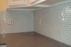 White Glass Tile Backsplash Ideas