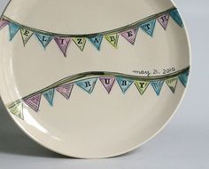 vesselsandwares birthday plate ~ loved mine for my twin boys 1st bday!