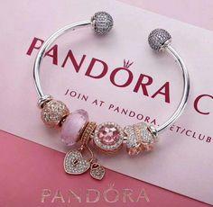 >>>Pandora Jewelry OFF! Pandora Open Bangle, Pandora Bangle Bracelet, Pandora Beads, Bangle Bracelets With Charms, Pandora Jewelry, Charm Jewelry, Pandora Charms, Jewelry Art, Fashion Jewelry