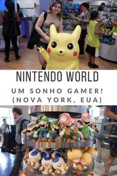 Conheça a loja Nintendo World, o sonho de qualquer gamer! (Nova York, EUA) - Juny Pelo Mundo  Dica de viagem,  travel,  nova york, new york,  estados unidos, games, gamer, pokemon, mario bros, donkey kong, kirby, game store, geek, nerd, pokemon go