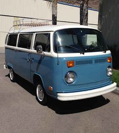1973 Blue VW Bus | The Best Reconditioned VW Buses Available