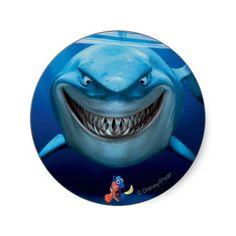 Bruce, Nemo and Dory 2 Round Sticker