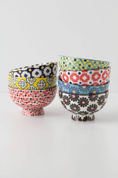 Tiled & Dotted Bowl - anthropologie