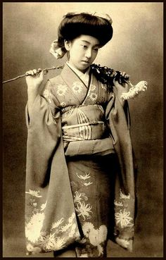TERUHA -- How She Got Her Geisha Name TERUHA by Okinawa Soba, via Flickr. Her real name was TATSUKO TAKAOKA.    From age 13 through 15, as a MAIKO in both Osaka and Tokyo, she was known by the name CHIYOHA.    Arriving directly from Osaka, she set foot in Tokyo for the first time on May 1911.    Through a letter of introduction, she was immediately accepted by what was considered the best Geisha House in Eastern Japan at that time --- a Geisha House called SEIKA.