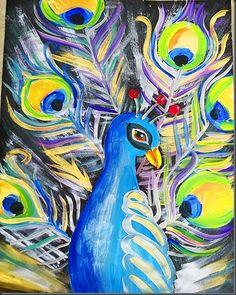 Peacock art lessons Via art-for-kids