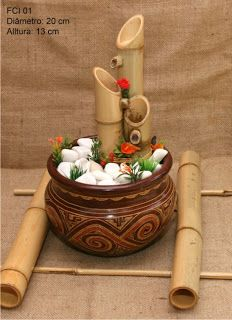 Fontes Água & Bambu: Fontes vários modelos