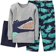 Carters Baby Boys 3 Piece Graphic PJ Set Baby  Alligator  12 Months * Find out more about the great product at the image link.