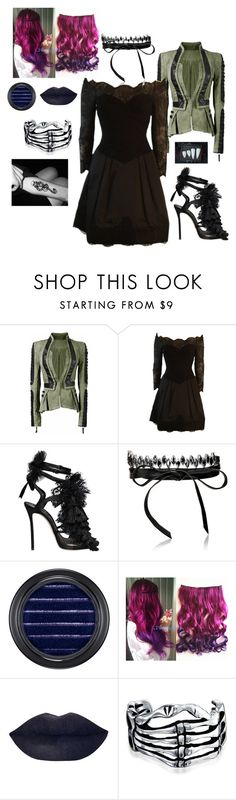 """""""Happy Halloween"""" by disney-geek-forever on Polyvore featuring Vera Wang, Dsquared2, Fallon, MAC Cosmetics and Bling Jewelry"""