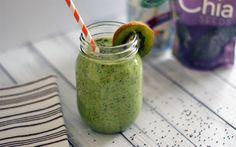 Herunterladen hintergrundbild kiwi-smoothies, gesunde lebensmittel, smoothies, grüne smoothies